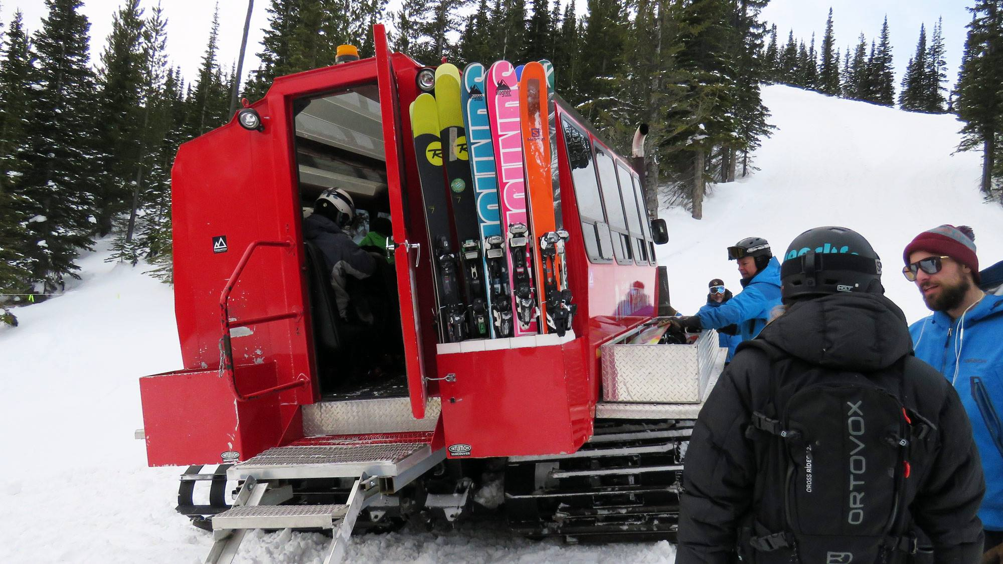 The snowcat had a great set-up