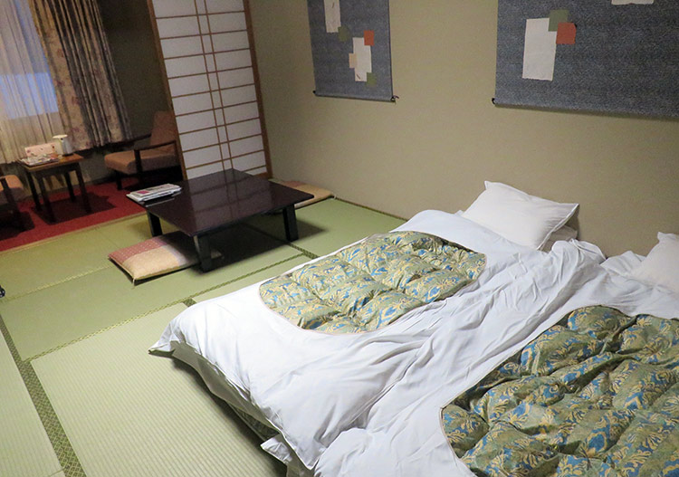 Plenty of opportunities for sleeping on the tatami
