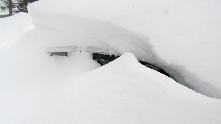 Yes that's our car - took a while to dig out!
