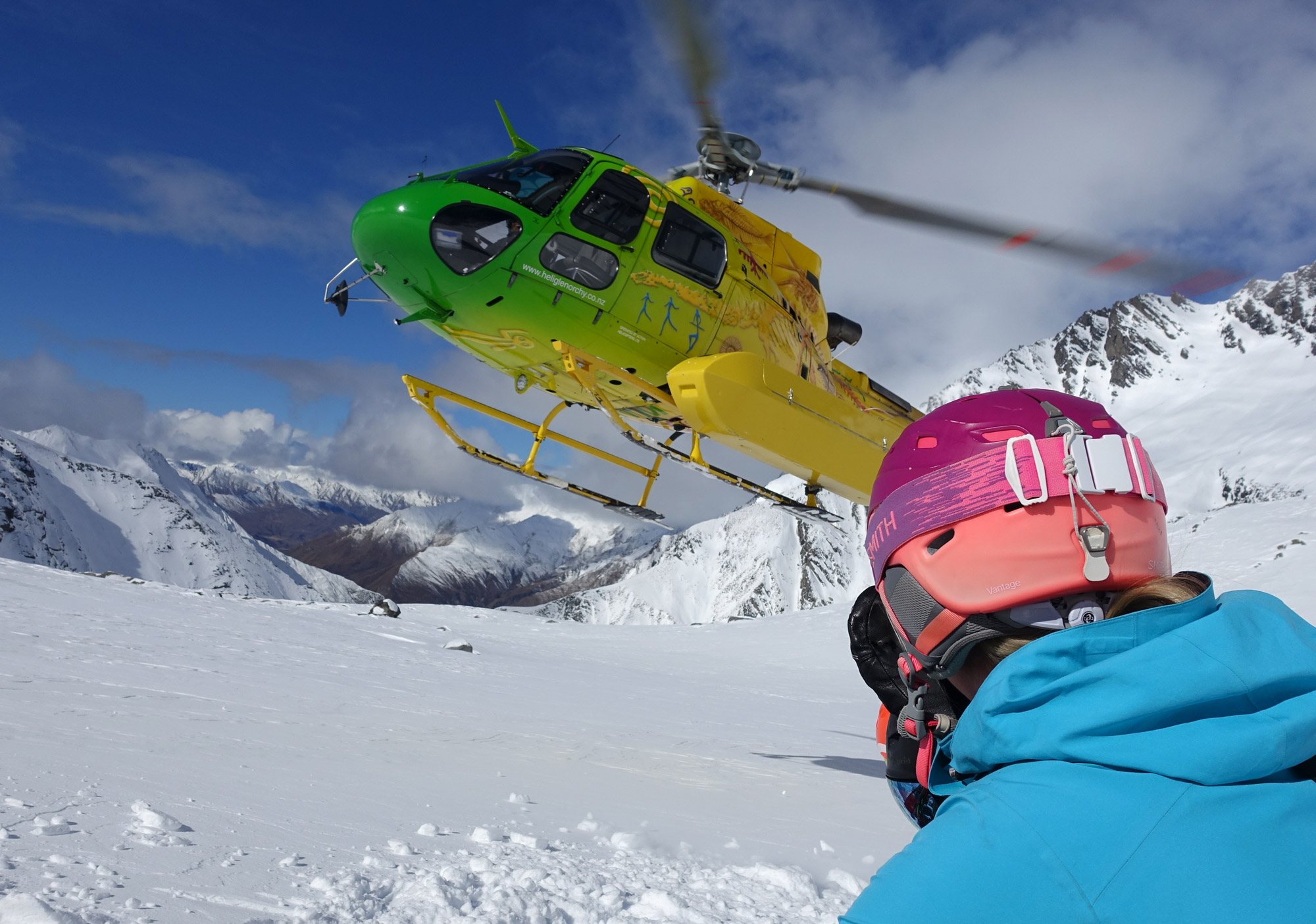 Heli skiing out of Glenorchy