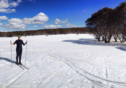 There are lots of nordic ski trails between DP and Hotham