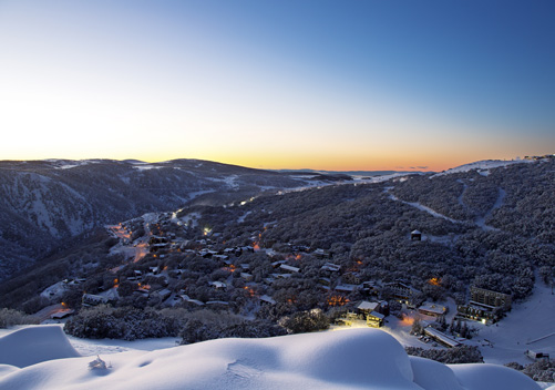 The beautiful ski-in ski-out village of Falls Creek   Photo: Charlie Brown Photography