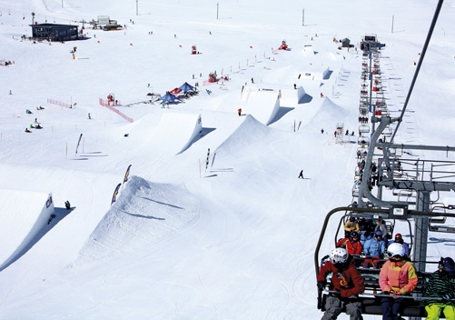 You can be a show pony in the advanced terrain park    Photo: Chris Hocking Images