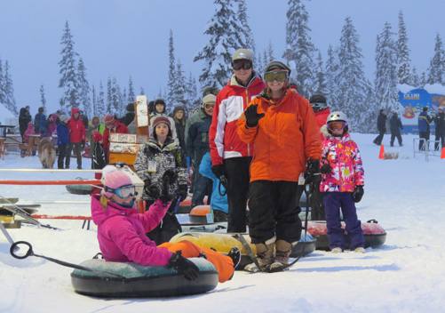 Tubing at Big White - A Great Family Activity