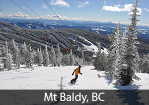 Mt Baldy, BC - #2 rated resort in Canada for Powderhounds
