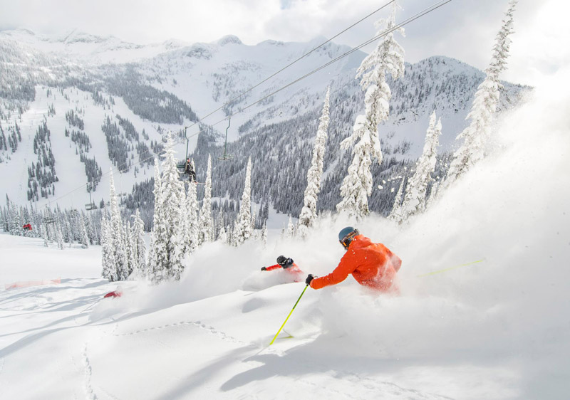 Whitewater BC receives 13 metres snow annually & has low crowds & incredible terrain
