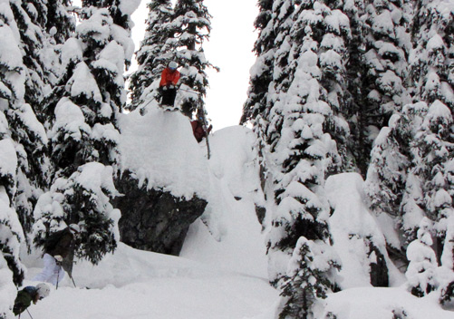 Valhalla Powdercats - you can take the easy way down or...