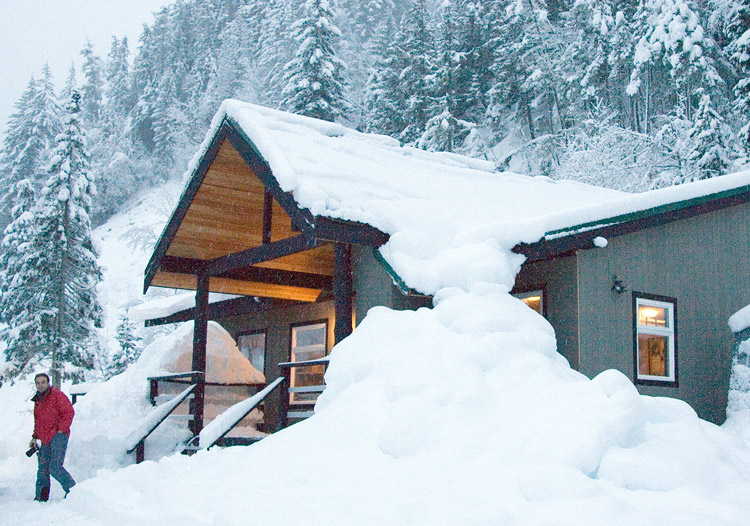 Powder Mountain Cat Skiing - the base camp lodge
