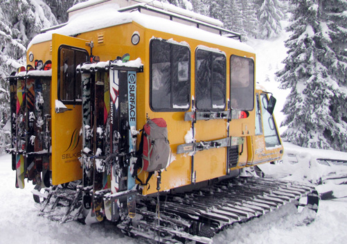 Selkirk Wilderness snowcat