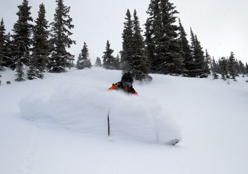 Line after line of fresh powder