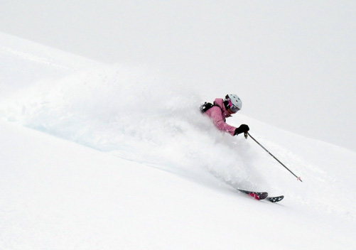 Powder skiing at SWS