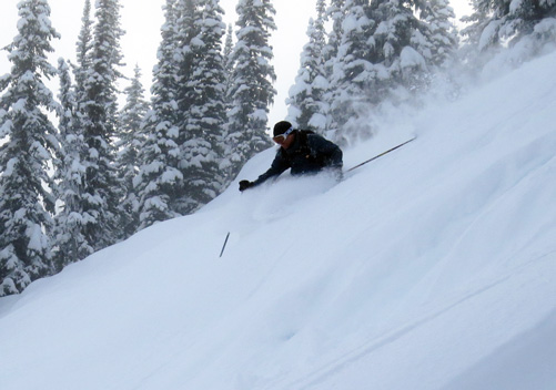 1 lead guide & 2 tail guides make this the safest cat skiing in the world!