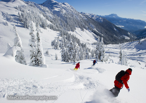 Powder Mountain Heli Skiing - located near Whistler - day heliskiing
