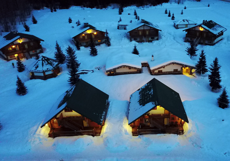Bell 2 Lodge is a remote heliski village