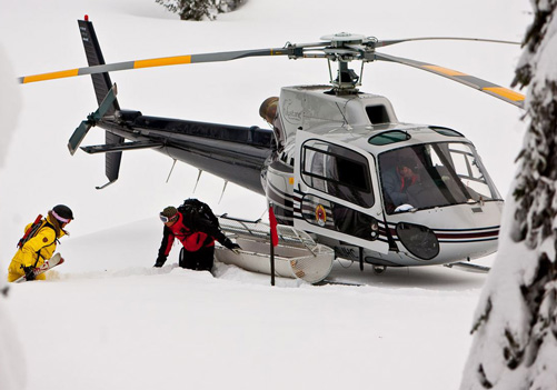 Small group heli skiing & boarding is the way to go to get max vert & terrain