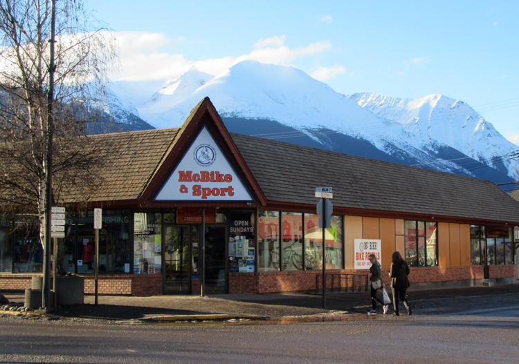 Smithers BC looks up to Hudson Bay Mountain