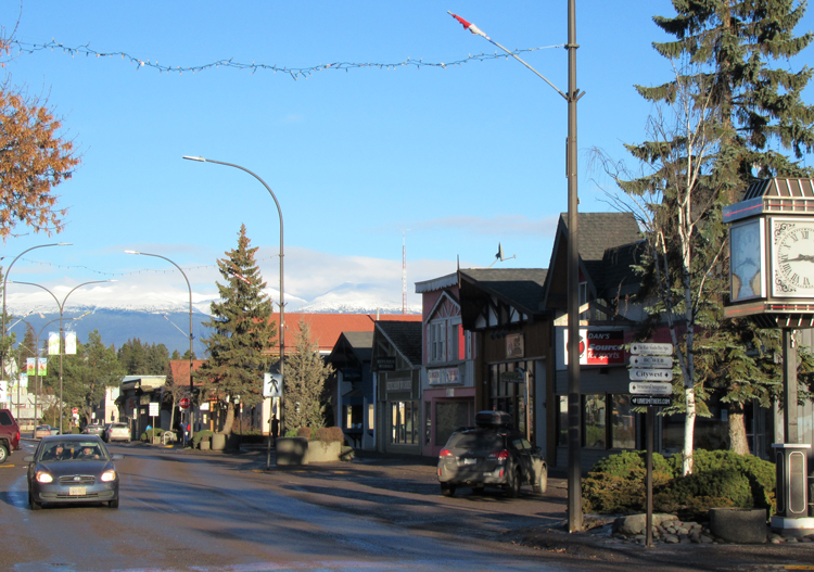 Main Street of Smithers BC