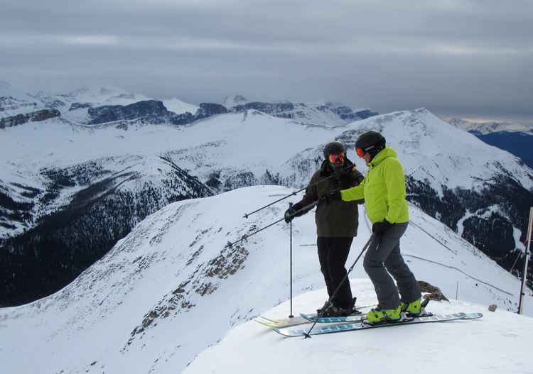 There is plenty of steep terrain at Lake Louise