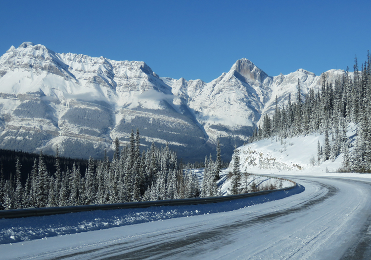 The Icefields Parkway provides some amazing eye candy