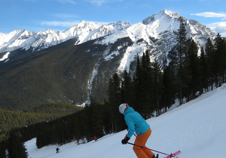 Nice views from the Norquay Ski Resort