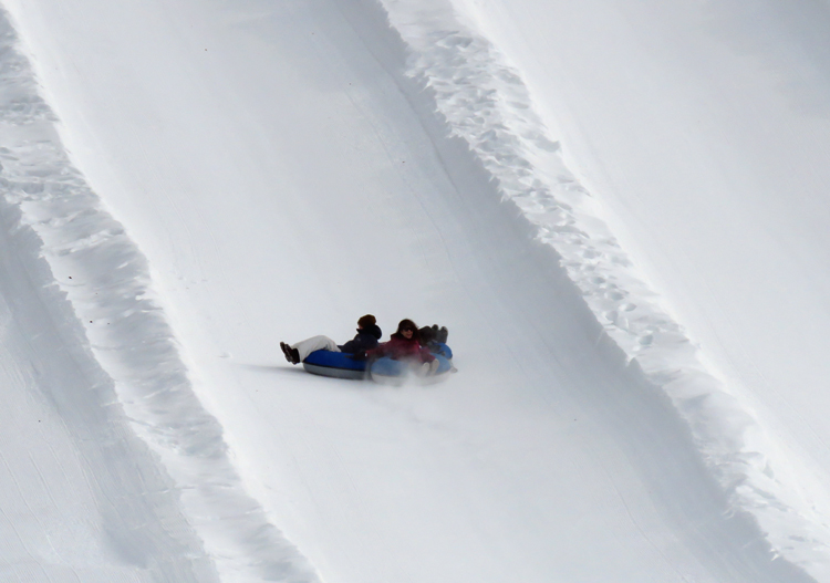 Tubing fun at Norquay