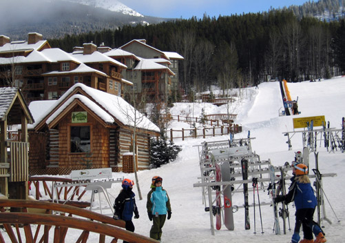 Slopeside lodging