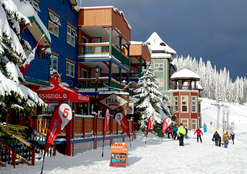 Silver Star Canada: mid-mountain village