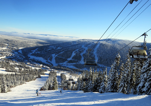 Sun Peaks has many impressive groomed runs