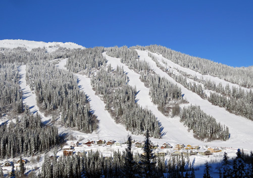 The ski in ski out village of Sun Peaks