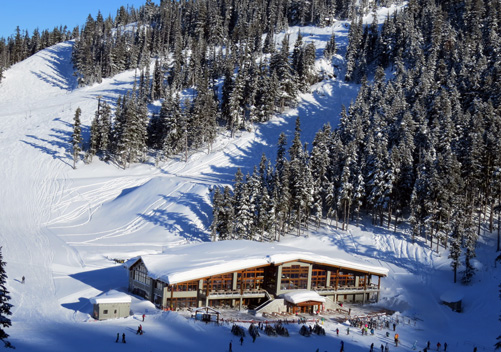 Glacier Creek day lodge on Blackcomb Mountain