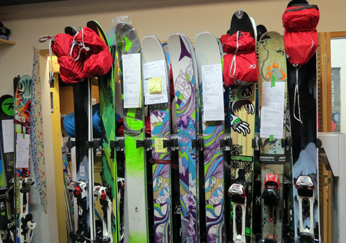 Backcountry equipment rentals from Excess Backcountry