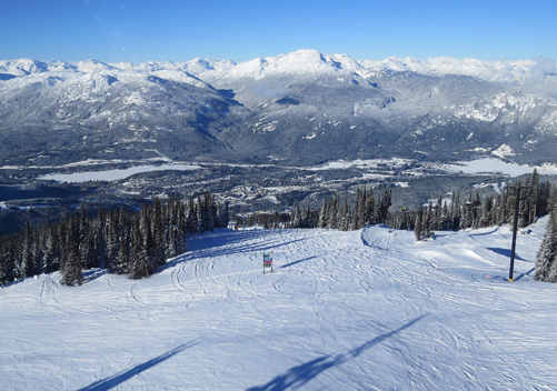 Whistler Blackcomb has very good terrain for intermediates