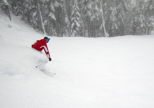 Powder skiing at Whistler Blackcomb