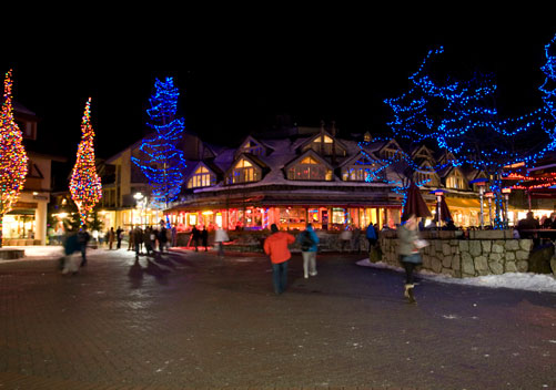 Whistler Village is a bustling hub of shops, bars and restaurants