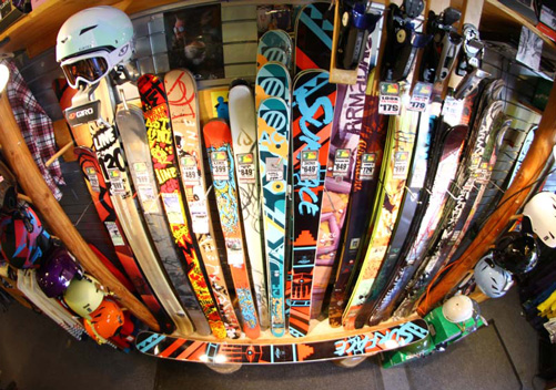 There are many many Whistler ski shops