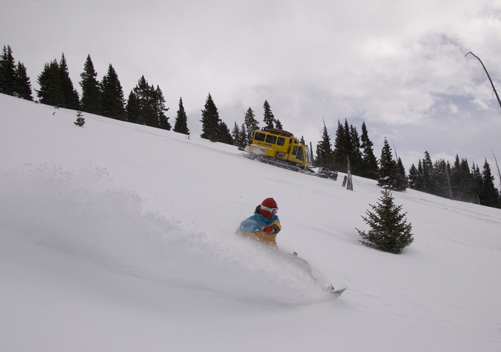 Chicago Ridge (Colorado) -a day of cat skiing without breaking the piggy bank