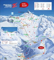Hintertuxer Gletscher Ski Trail Map