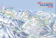 Zillertal 3000 Trail & Piste Map
