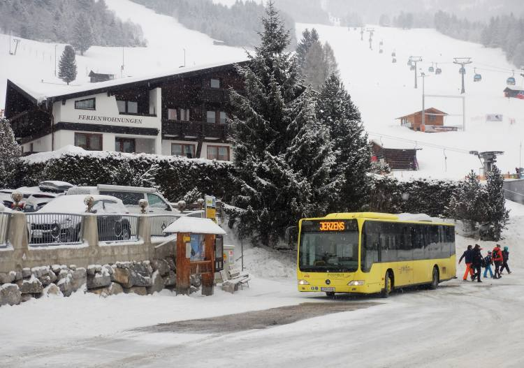 Bus access to Hochzeiger ski resort is very good from anywhere in the Pitztal.