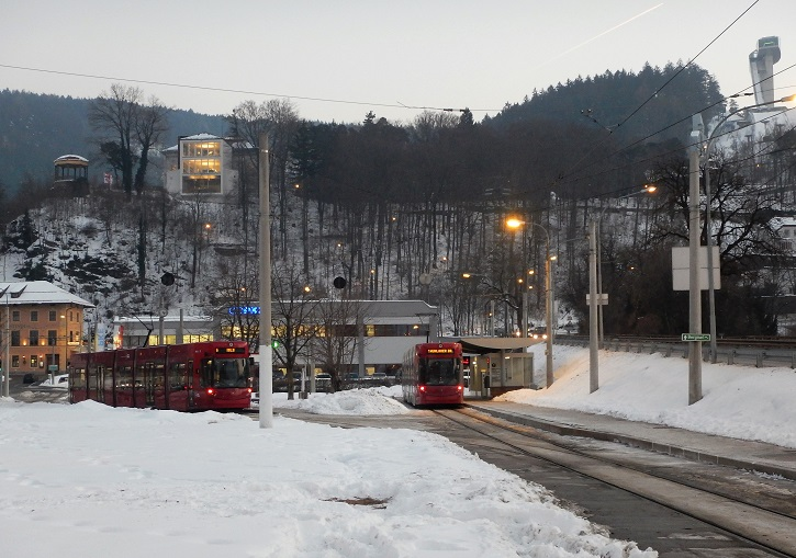 Innsbruck is a tram, bus and train transport hub.