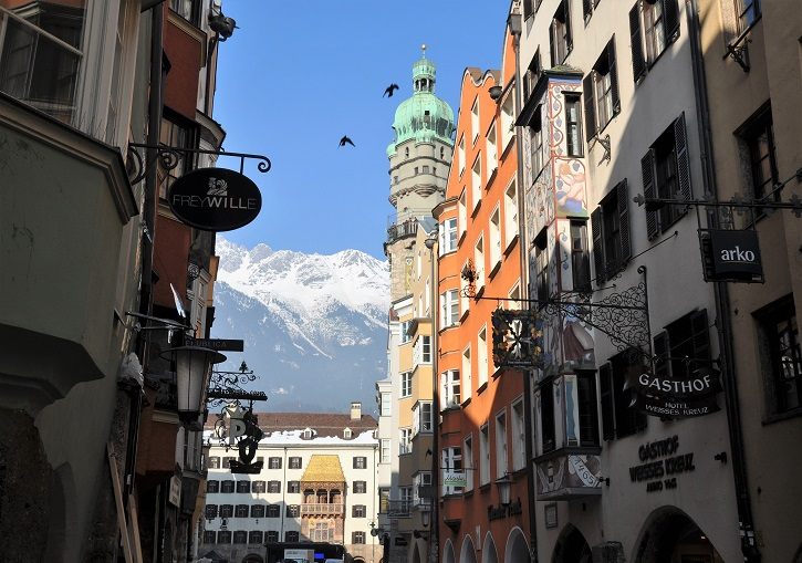 Historic Innsbruck includes the iconic Golden Roof (Goldenes Dachl).