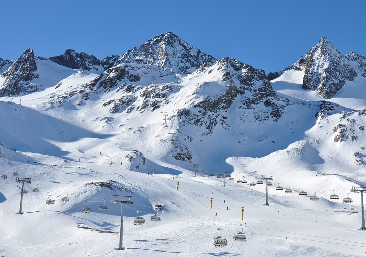 Stubai Glacier has the best overall terrain near Innsbruck.