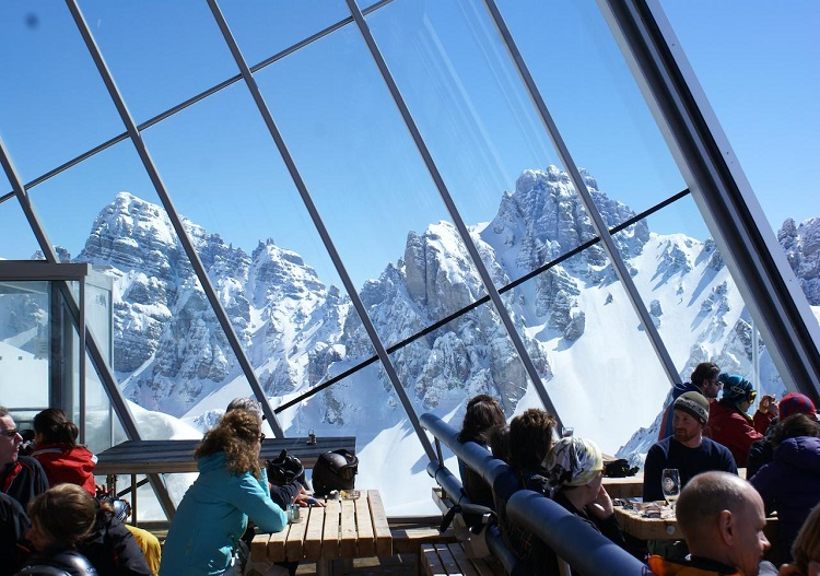 Stunning views abound near Innsbruck, including from the top Axamer Lizum ski resort.