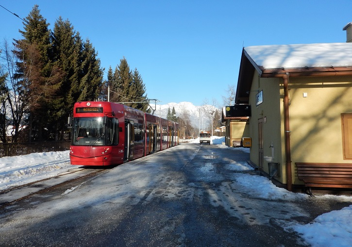 Three Innsbruck ski resorts are accessible by tram from the city centre.
