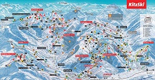 Kitzbuhel Ski Trail & Piste Map