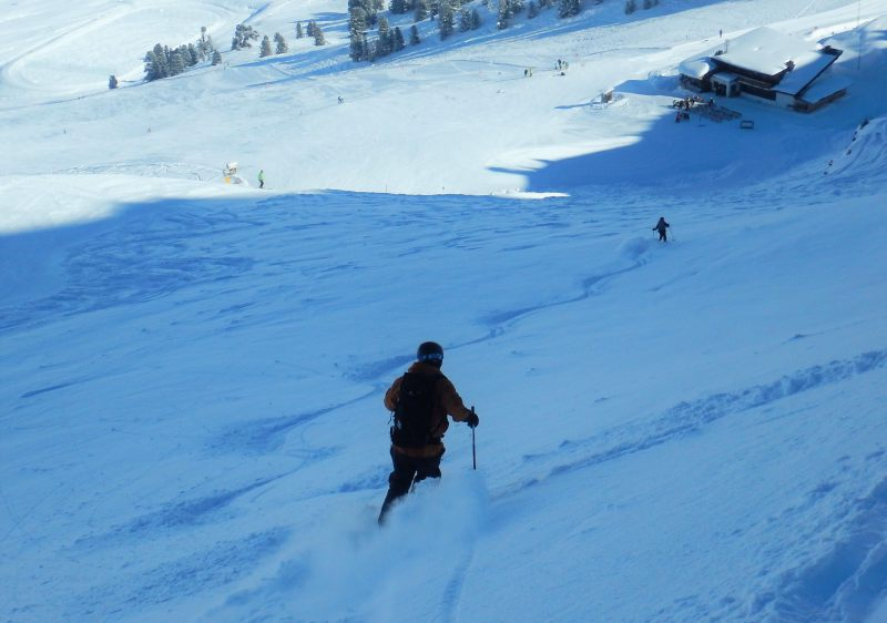 Snow on Kuhtai ski resort's dark side is cold and dry for delicious turns.