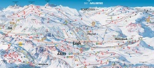 Lech Ski Trail & Piste Map