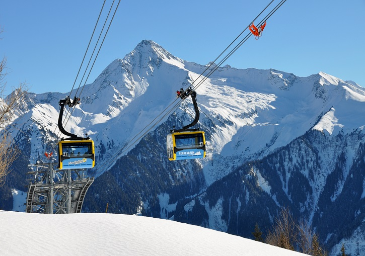 World class modern lifts are a feature of beautiful Mayrhofen ski resort.