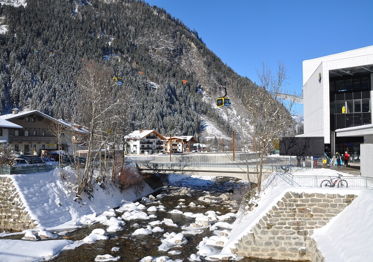 Modern lifts extend directly from Mayrhofen's town centre.