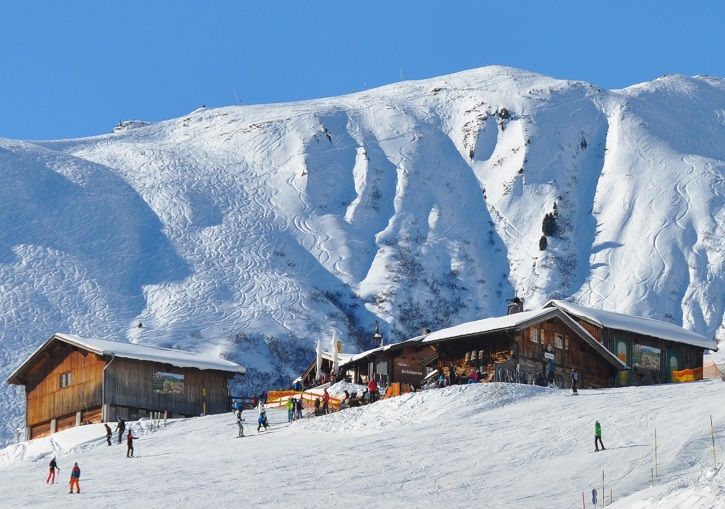 Mayrhofen has superb mountain huts and off piste terrain.